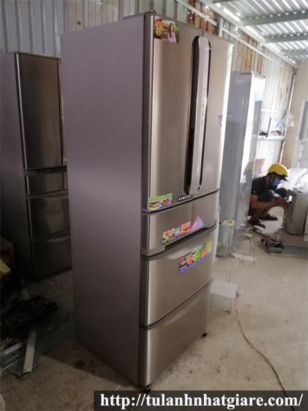 Tủ lạnh cũ nội địa HITACHI R-SF43WM 430L - 6 cánh - đời 2007
